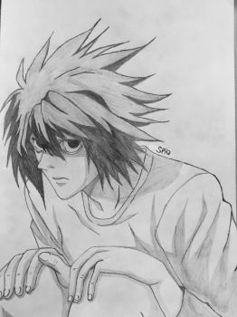 L from Death Note by spiq
