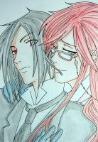 Grell x Sebastian Color by Eirikun