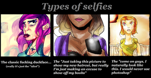 Types of selfies by xXBokChoyXx