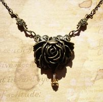 Steampunk Corsage Necklace by LaOubliette