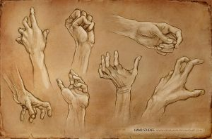 Hand Studies by KejaBlank