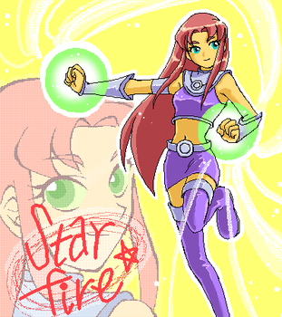 Starfire by MakiHosaku