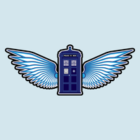 Flying Tardis by IllustratorG