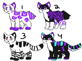 4 Kitty Adoptss [2/4 OPEN][CLEARENCE] by catttastic