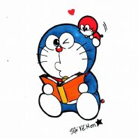 Doraemon and Doramini by doraemonbasil