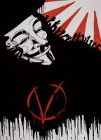 V for Vendetta Poster by Blue-Umber