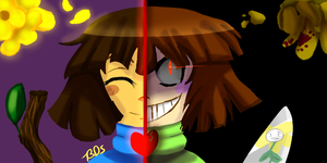 Chara and Frisk by BloodyDarkSanity