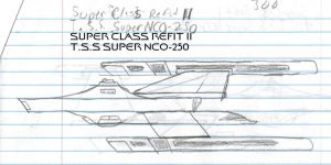 Super Class Refit 2 Paper Drawing by kaisernathan1701