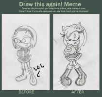 meme before and after :Amy Rose by jadenyugi9
