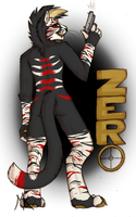 Zero con badge: Sharpe19 by PawthenticCreations