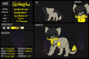 StealthClan Application- Goldenpaw by 4DAMANT