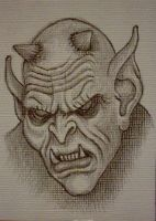 Demon - ACEO Sketch by mikegee777