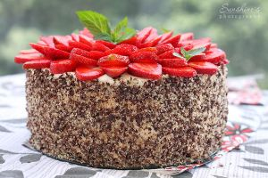 Chocolate strawberry cake by kupenska