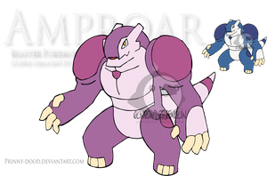 Fake Pokemon - Amproar by Prinny-Dood