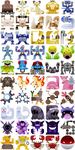 PokeMonster Hunter Icons 2 by Gryphon-Shifter