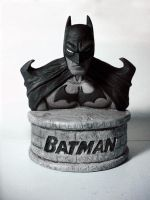 Batman Black and White Statue by GrinningManiac