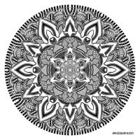Mandala drawing 10 by Mandala-Jim