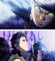 Collab: Naruto 612 - Naruto vs Obito and Madara by Rikimaru-Uchiha
