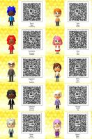 Tomodachi Life-Sonic QR Codes by TheSingettesRBack