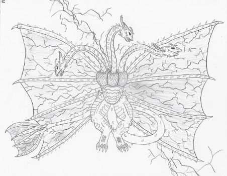 End Ghidorah by EmeraldGrizzly