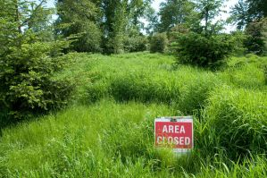 Grass Hill + Area Closed Sign by happeningstock