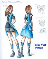 Fashion Design: Blue Veil by Alyxander12