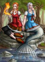 Collab: Fire and Water by callisto-chan