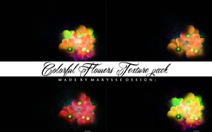 Colorful Flowers Texture Pack by Marysse93