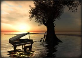 At the Piano by Cest--Moi