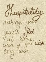 Hospitality (Day 315) by Hedwigs-art