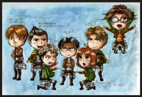 Scouting Legion Chibi by Marvolo-san