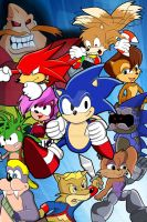 Sonic SatAm/Undeground Poster by ChaosWhite180
