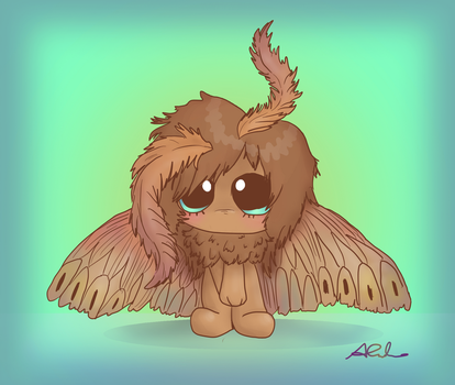 Fluffy moth by Yokkishai