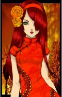 Lady Rose Colored by Emo-Kitteh-Cat
