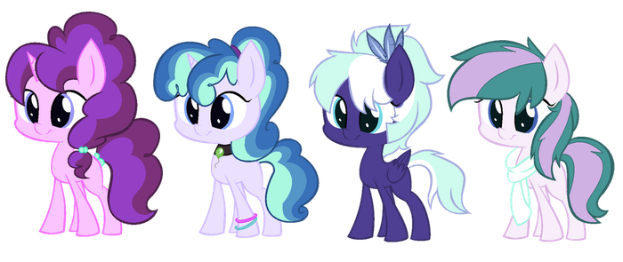 Starlight Glimmer x 'Mane 4' foals [CLOSED] by Icicle212