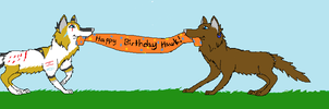 We Hold the Birthday banner by AlphaWolfKodijr