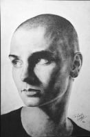 Sinead O' Connor portrait by ArtNomad