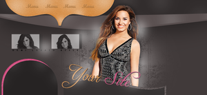 Demi Lovato PSD header by deliasworks