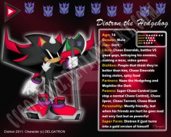 Diotron the Hedgehog ID 2011 by CCmoonstar23