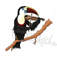 Violin Toucan Commission by Tankitha