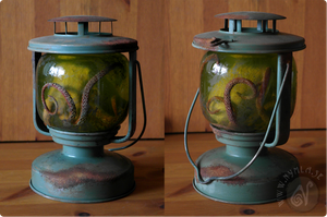 Steampunk Octopus Lantern by Nymla