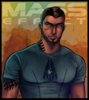 Mass Effect - James Vega by lux-rocha