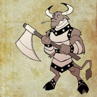 Carver the Minotaur by chief-orc