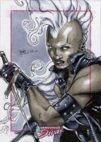 Storm Marvel Divas Sketch Card by RichardCox