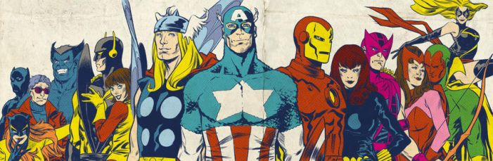 Bronze Age Avengers for Blastoff Comics - 2012 by elena-casagrande
