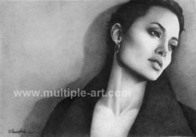 Pencil Drawing Angelina Jolie by artbydawnkoh