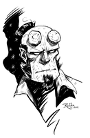 Inktober 2- Hellboy by NickRoblesArt