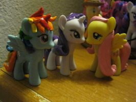 Molded Fluttershy, Rarity, RD by Nethilia