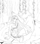 Listen Listen (WIP - LINE ART) request#1 by Tasuu-chan
