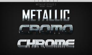 (FREE) Photoshop Metallic Styles 2 by aanderr